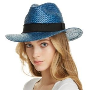 STRAW FEDORA Filippo Catarzi NAVY HAT